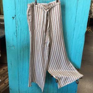 Pants - Chaser Striped Wide Leg Pants